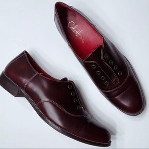 Cole Haan Oxfords Laceless Oxblood Burgundy Red